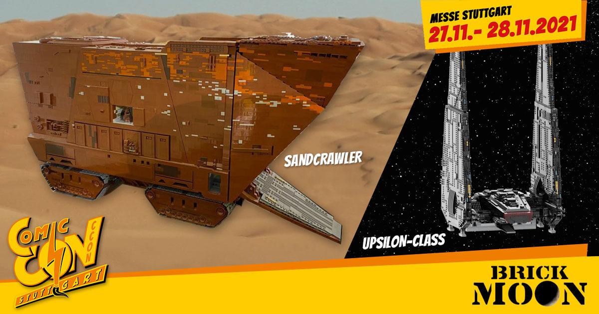 CCON | COMIC CON STUTTGART 2021 | Specials | Brick Moon (Sandcrawler / Upsilon-class)