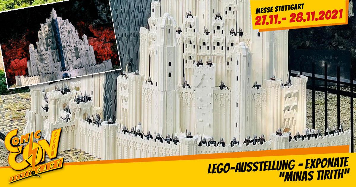"CCON | COMIC CON STUTTGART 2021 | Specials | LEGO-Ausstellung - Exponate: ""Minas Tirith"""