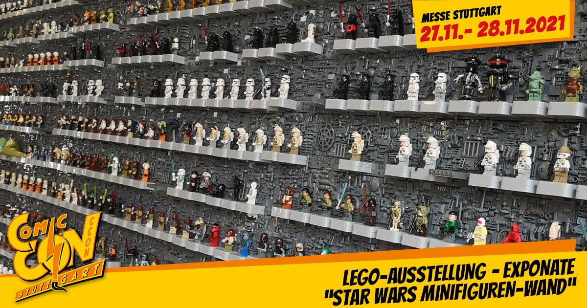 "CCON | COMIC CON STUTTGART 2021 | Specials | LEGO-Ausstellung - Exponate: ""Star Wars Minifiguren-Wand"""